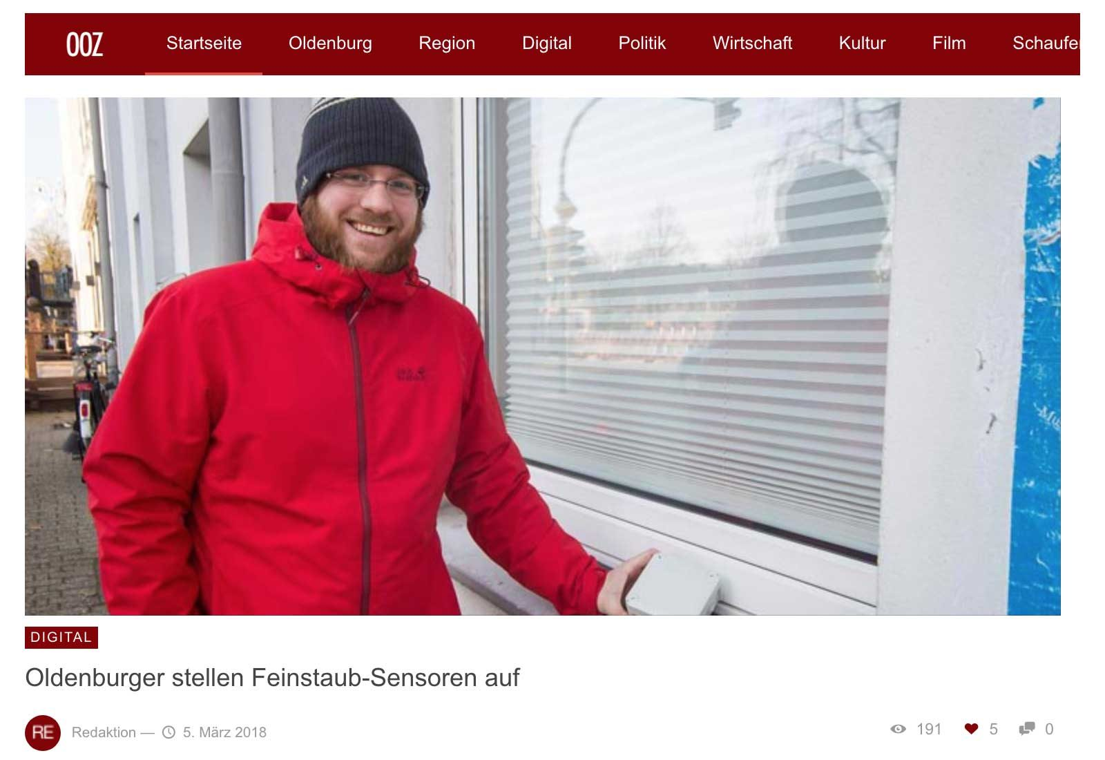Beitrag in der Oldenburg Onlinezeitung