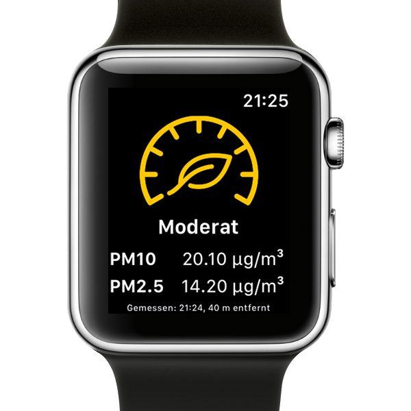 Breathe Apple Watch Moderate Luftqualität