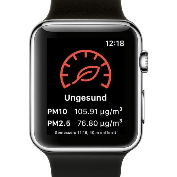 Breathe Apple Watch Schlechte Luftqualität